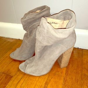 Chinese laundry open toe booties- size 7